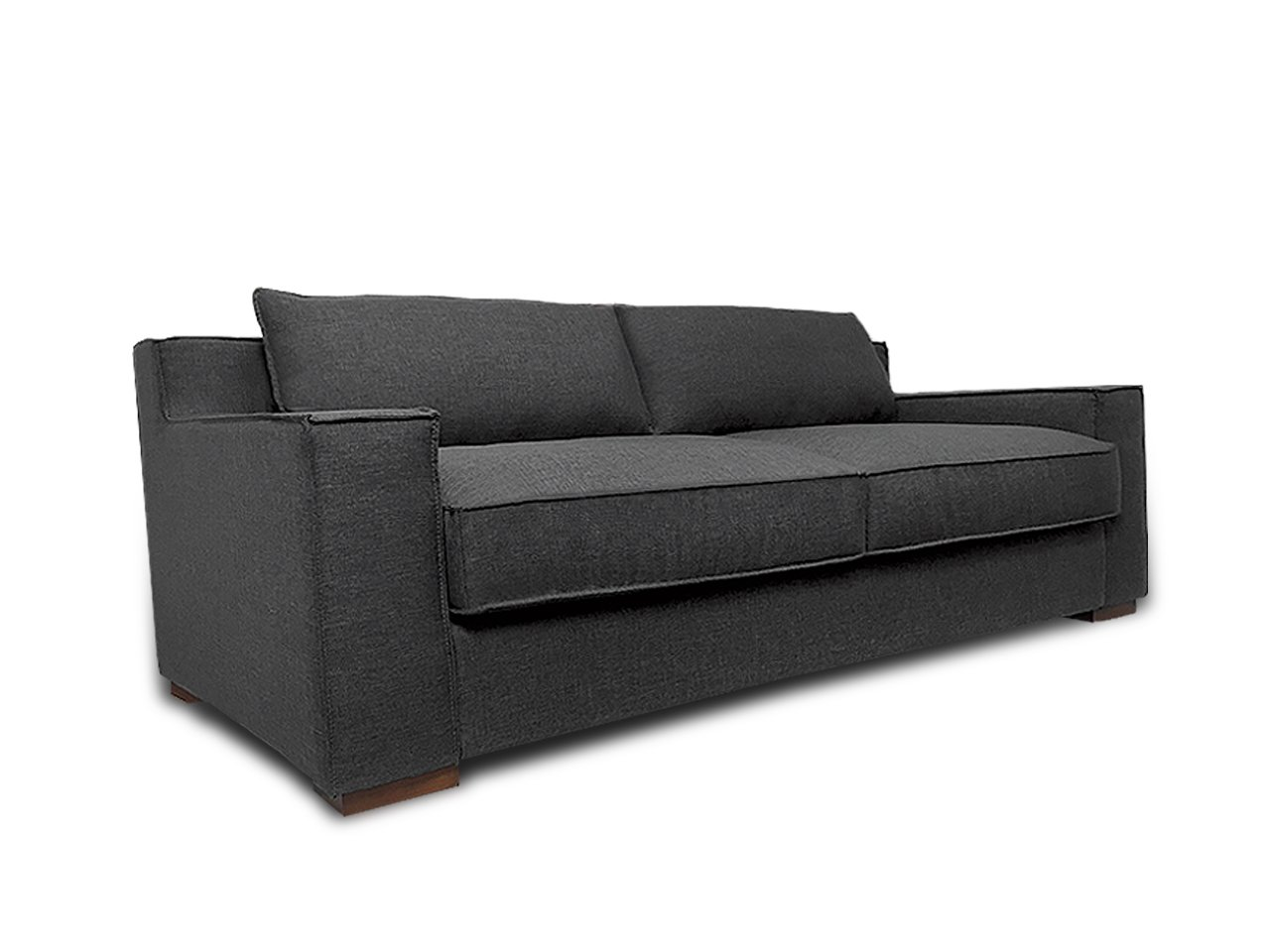Divano Roma Furniture Signature Collection - Modern Capri Linen Sofa with Real Goose Feathers and Wide Track Arm