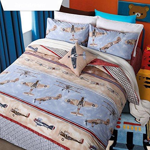Brandream Kids Boys Bedding Set Cartoon Helicopter Bedding Duvet Cover Full Size