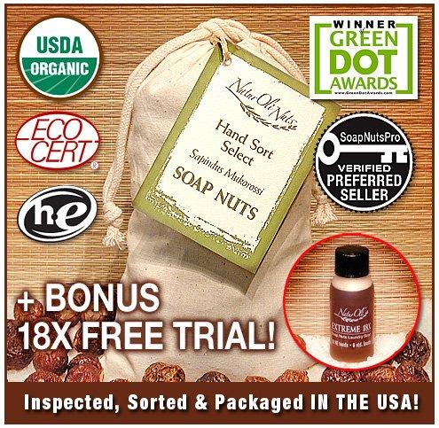 NaturOli Soap Nuts / Soap Berries. (160+ Loads) 1-lb.