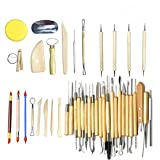 Clay Sculpting Tools Pottery Carving Tool Set of 42 Pcs Professional Tools for Carving Sculpting Cutting Shaping Powerful Sculpting Tools in Craft Producing Process (Color: Wood, Tamaño: 42 pieces)