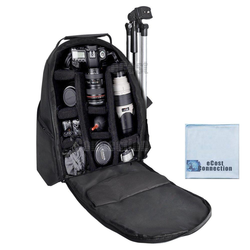 Deluxe-Digital-Camera-Video-Padded-Backpack-For-Nikon-Canon-Sony-Pentax-DSLR-Cameras-Nikon-D300-D300S-D3000-D3100-D3200-D3300-D5000-D5100-D5200-D5300-Many-More-SLR-DSLR-Cameras-eCost-Microfiber-Cloth