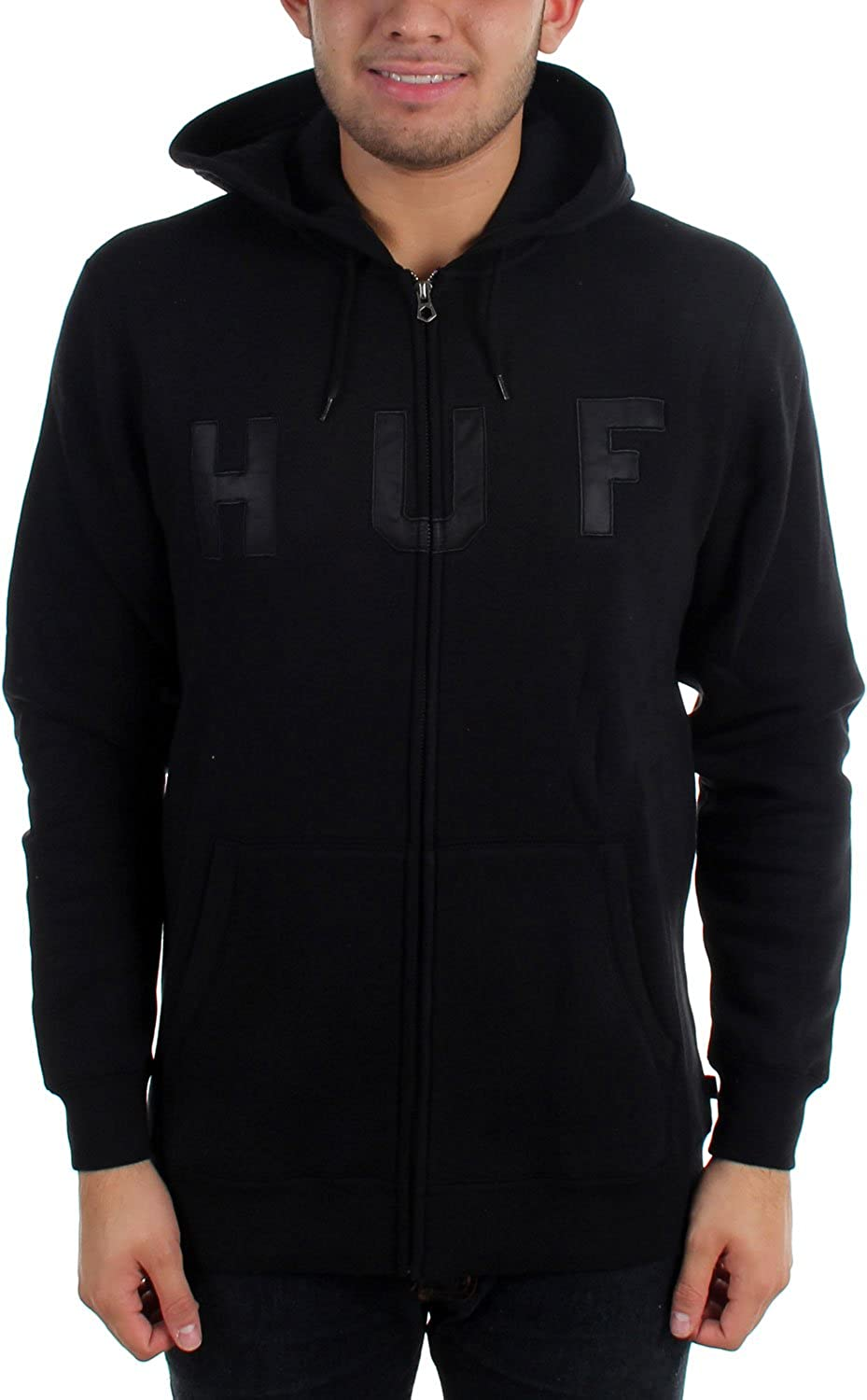 HUF Men's HUF Logo Zip Up Hoodie diesel diesel dz7257