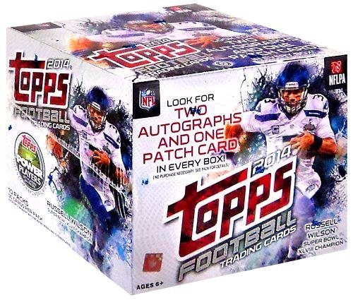 2014 Topps NFL Football Hobby HTA Jumbo Trading Card Box by Topps