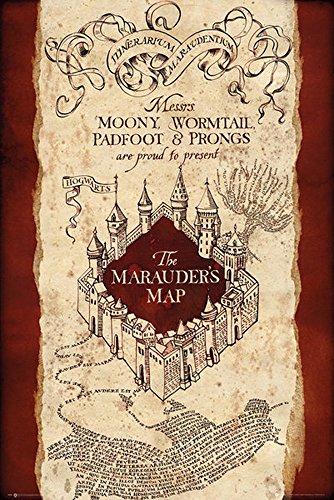 Harry Potter Poster Marauders Map + articolo aggiuntivo Ü-Poster der Grösse 61x91,5 cm