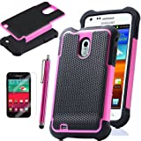 Pandamimi ULAK Rose pink Heavy Duty Rugged Hard Case for Samsung Galaxy S2 D710 Epic Touch Sprint with Free Screen Protector and Stylus