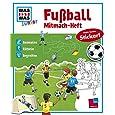 Was ist was Junior: Mitmach-Heft Fußball. Malen, Rätseln, Stickern ab 4 Jahren: Malspaß mit bunten Aufklebern