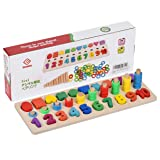 Sendida Kids Wood Sorting Puzzles Toys Shape Sorter Number and Math Stacking Blocks Toddlers Learning Toys Gift, Montessori Toys for Toddlers, Preschool Teaching, Early Education Toy (Color: Multiple, Tamaño: 3 - 7 years old)