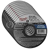 Milwaukee 10 Pack - 4 1 2 Cutting Wheels For Grinders - Aggressive Cutting For Metal & Stainless Steel - 4-1/2