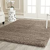 "Safavieh California Shag Collection SG151-2424 Taupe Area Rug, 9 feet 6 inches by 13 feet (9'6"" x 13')"