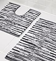 Broken Stripe Bath & Pedestal Mats