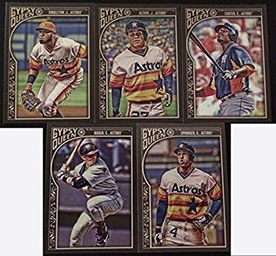 Houston Astros 2015 Topps Gypsy Queen MLB Baseball 5 Card Team Set with with Craig Biggio George Springer Plus