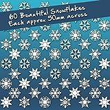 60 Stickers individuels Film pour fenêtre flocon de neige Noël Décoration de fenêtre saisonnière Par Stickers4...