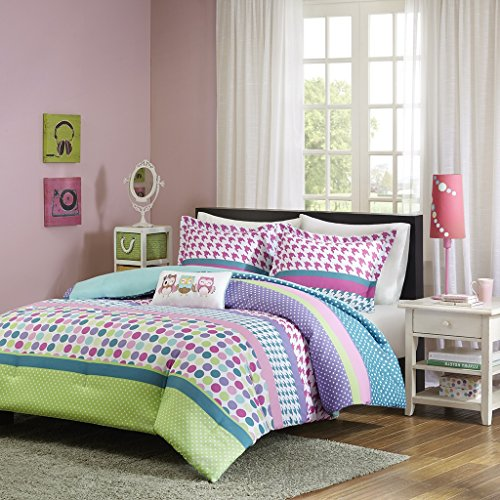 Girls Teen Kids Modern Comforter Bedding Set Pink Purple