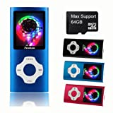 FenQan MP3 Player, MP3 Music Player Portable Metal Body, Support 32G TF Card, Micro USB Port 1.7