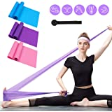 Resistance Bands Set, 3 Pack Professional Latex Elastic Bands for Home or Gym Upper & Lower Body Exercise, Physical Therapy, Strength Training, Yoga, Pilates, Rehab, Blue & Purple & Pink (Color: Blue,Purple,Pink, Tamaño: L,M,S)
