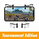 Mobile Triggers, Tournament Edition Mobile Game Controller Pubg Mobile Trigger, Pubg Trigger Set [Lastest Version] L1 R1 Buttons Pubg Shoot and Aim Buttons Fornite Triggers Ultra Transparent