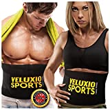 Waist Trimmer Ab Belt (Elite Edition) - Best Adjustable Weight Loss Sauna Belt For Men, Women And Kids With Lower Back & Lumbar Supports For Easy, Effortless Waist Slimming - 100% Lifetime Satisfaction Guaranteed.
