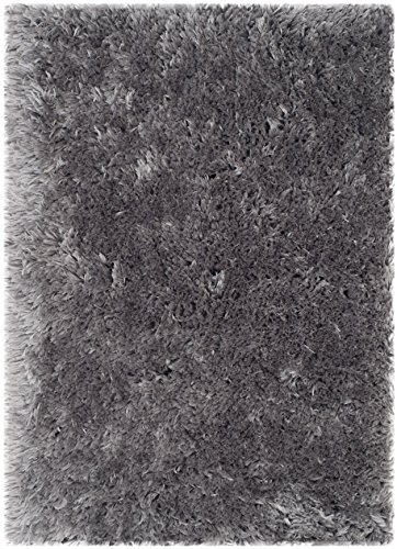 Safavieh Arctic Shag Collection SG270G Handmade Grey Shag Area Rug, 2 feet by 3 feet (2' x 3')