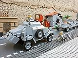 Modbrix 2366 - ✠ Wehrmacht Bausteine Panzerspähwagen Sd.Kfz. 222 inkl. custom Wehrmacht Soldaten aus original Lego© Teilen ✠ - 4