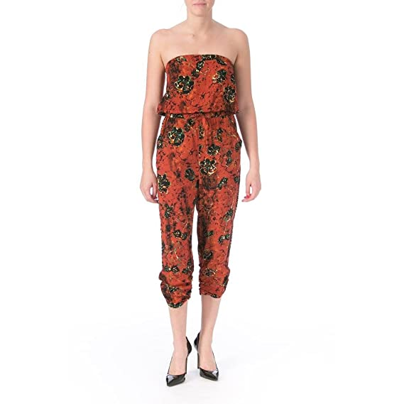 American Rag Womens Juniors Printed Ruched Jumpsuit