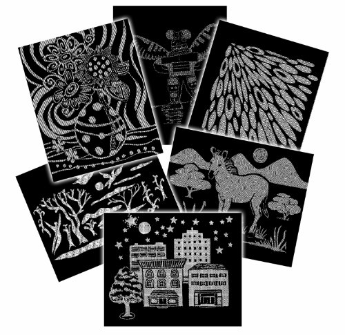 Melissa & Doug Scratch Art Paper - Pattern Assortment (60 sheets)