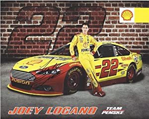 Buy AUTOGRAPHED 2014 Joey Logano #22 SHELL PENNZOIL RACING (Penske) 8X10 SIGNED NASCAR Hero Card w  COA by Trackside Autographs