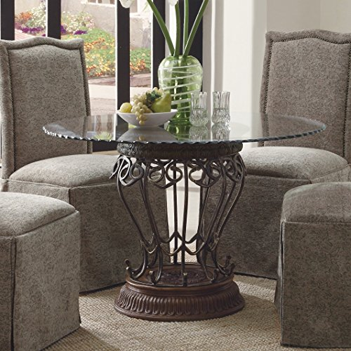 Coaster home furnishings 104843 traditional dining table for Traditional dining table bases