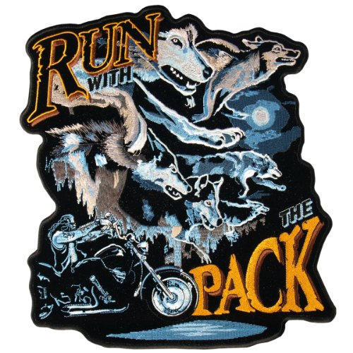 Hot Leathers Run With The Pack Patch (5