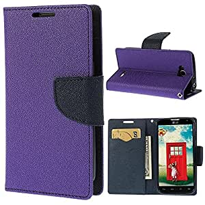 Relax&Shop Luxury Wallet Style Flip Cover For Apple Iphone 6/6S - Purple