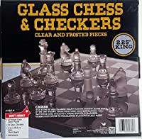 Classic Glass Chess Checkers Game Strategy Board Fun
