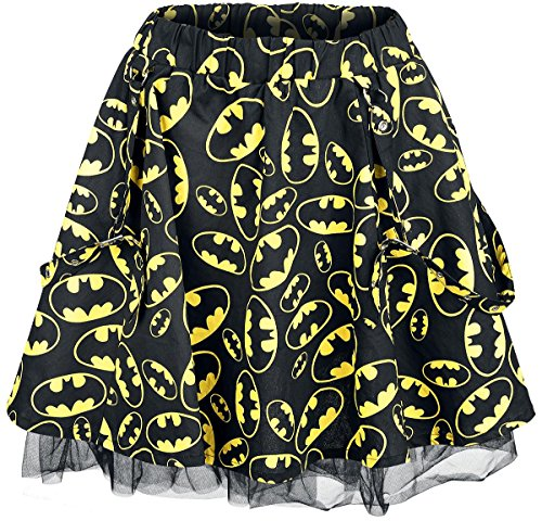 Batman Logo - Allover Gonna nero/giallo L