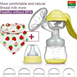 Q-JING Hand Portable Breast Pump,Designed for Occasional Use (Color: yellow)