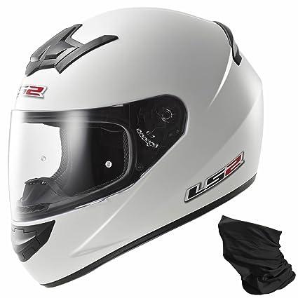 LS2 Ff352 brillant Mono seul casque de moto blanc