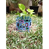 The Garden Store Square Plant Holder -blue