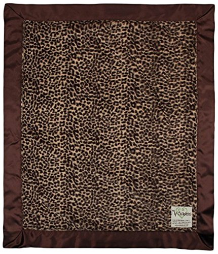 "My Blankee Luxe Baby Blanket, 14"" x 17"", Cheetah Brown"