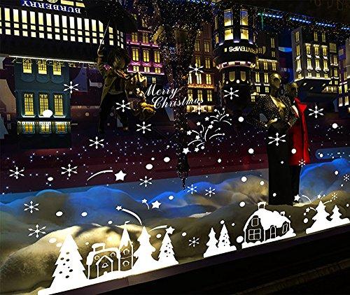 Adesivi natalizi per vetrine strange things for Decorazione wallpaper