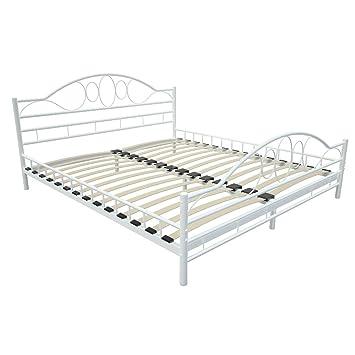 Miadomodo mtbt04 2 cama de metal 180 x 200 cm for Cama full medidas