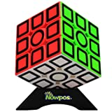 Nowpos 3x3x3 Speed Cube Puzzle Carbon Fiber Fast Smooth Twist Stickerless Magic Speed Smart Cube Puzzle Toys Kids Boys Girls