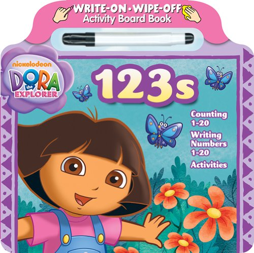Bendon Dora the Explorer 123s Write and Wipe Board Book with Marker - 1