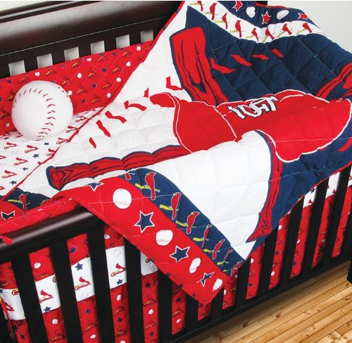 MLB St Louis Cardinals 4pc Baseball Crib Bedding Set at Amazon.com