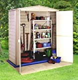 Cooden Compact Plastic Shed - Easy to Assemble - 5ft x 3ft