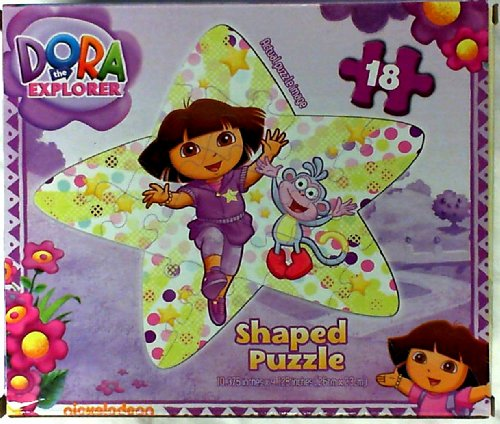 Dora the Explorer and Boots 24 Piece Shaped Jigsaw Puzzle (Assorted Designs) - 1
