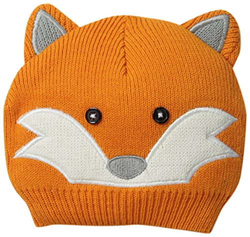 Little Me Baby-Boys Newborn Knit Fox Critter Hat, Orange, 0-12 Months front-158734