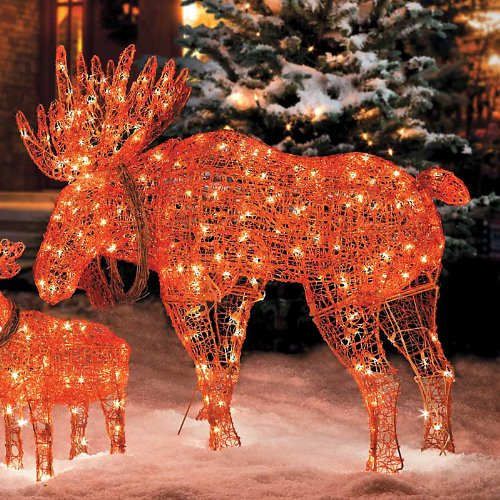 Moose christmas decoration christmas decoration for Outdoor light up christmas decorations
