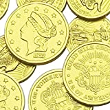 Assorted Liberty Gold Coins Solid Milk Chocolate (1 LB - 93 Pieces)