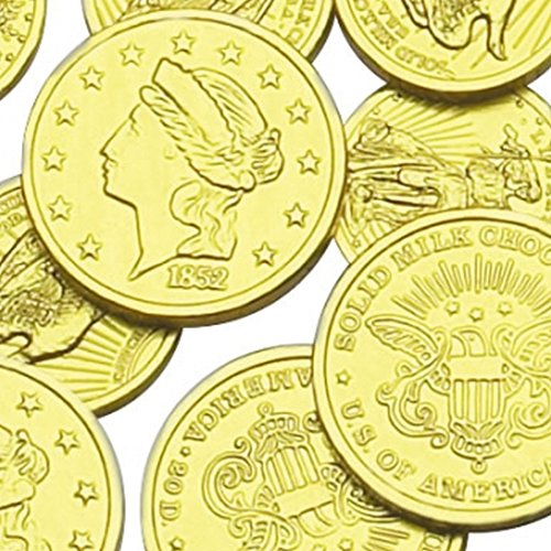 Assorted Liberty Gold Coins Solid Milk Chocolate (1 LB - 93 Pieces) (Coin Chocolate compare prices)