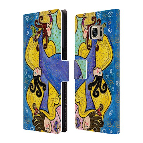Ufficiale Wyanne Angeli Che Danzano Diva 2 Cover a portafoglio in pelle per Samsung Galaxy S7 edge