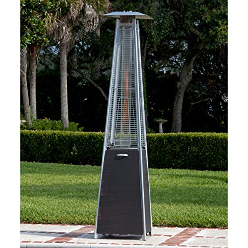 Top Selling Best Outdoor High Heat Propane Real Flame Fire Pyramid Brushed Bronze Steel Tower Patio Heater Warmer- Perfect Way To Take The Bite Off A Cold Evening Perfect For Parties Decks- Beautiful (Best Outdoor Heater compare prices)