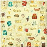 Karen Foster Design Scrapbooking Paper, 25 Sheets, Family Food Fun, 12 x 12