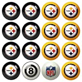 NFL Pittsburgh Steelers Home Versus Away Team Billiard 8-Ball Set